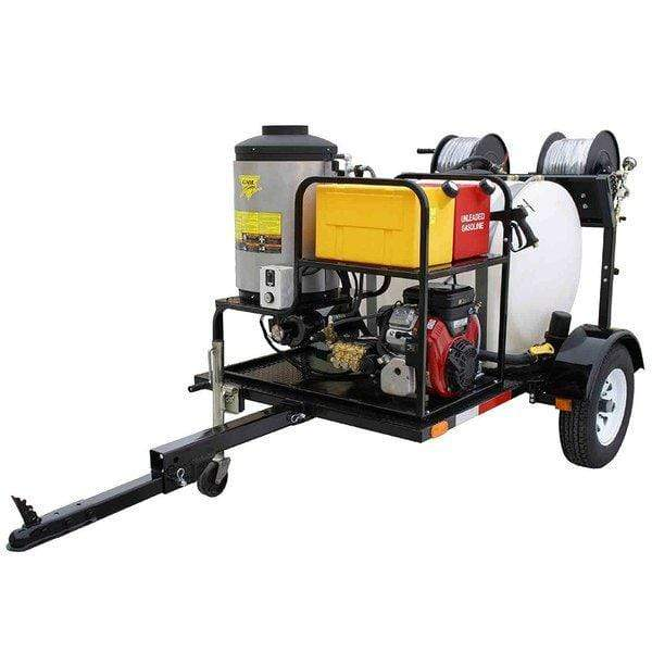 Cam Spray Economy Trailer Mounted Diesel Fired Gas Powered 3 gpm, 2000 psi Hot Water Pressure Washer - UV2030B-HOT