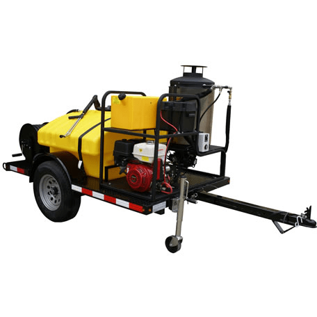 Cam Spray Economy Trailer Mounted Diesel Fired Gas Powered 3 gpm, 3000 psi Hot Water Pressure Washer - UV3030H-HOT