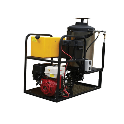 Cam Spray Skid Mount Diesel Fired Gas Powered 4 gpm, 3000 psi Hot Water Pressure Washer