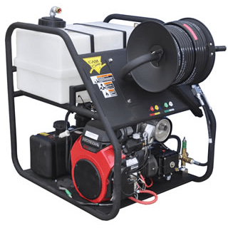 Cam Spray Skid Mounted Gas Powered 5.5 gpm, 5000 psi Cold Water Pressure Washer - 5055HRC