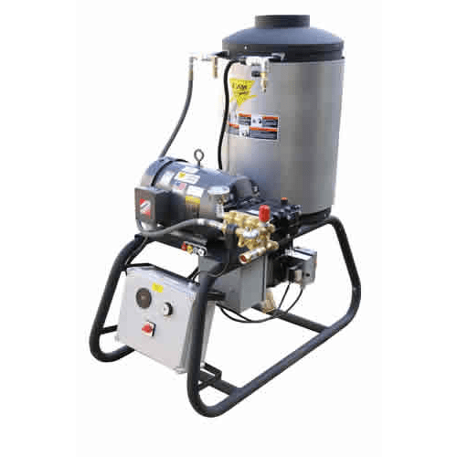 Cam Spray Stationary LP Gas Fired Electric Powered 4 gpm, 3000 psi Hot Water Pressure Washer - 3000STLEF