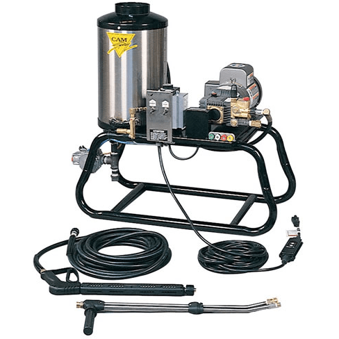 Cam Spray Stationary Natural Gas Fired Electric Powered 3 gpm, 1000 psi Hot Water Pressure Washer - 1000STNEF