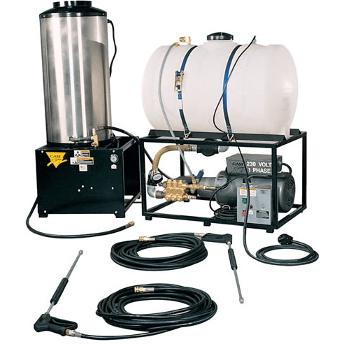 Cam Spray Stationary Natural Gas Fired Electric Powered 5.5 gpm, 2500 psi Hot Water Pressure Washer - 2555STATNEF