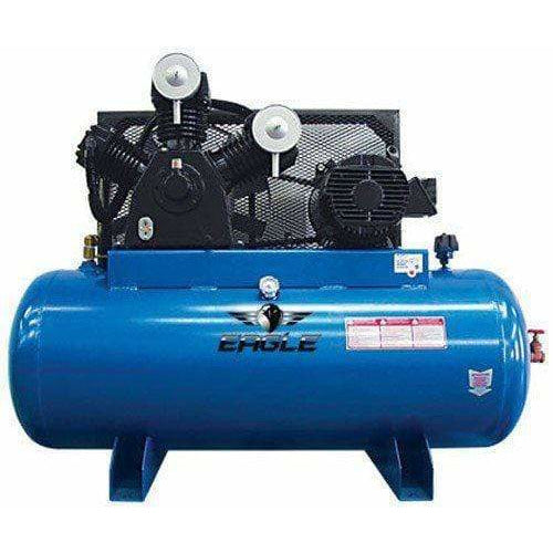 Eagle 10HP Horizontal 3 Phase Power 36CFM @ 100psi Stationary Compressor - 103120H2-CS460
