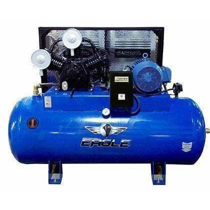 Eagle 10HP Horizontal Single Phase Power 36CFM @ 100psi Stationary Compressor - 101120H2-MS208