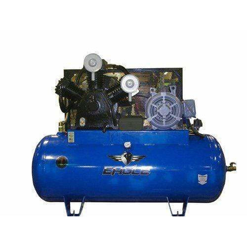 Eagle 15HP Horizontal 3 Phase Power CFM @ 100psi Stationary Compressor - 153120H2-MS208