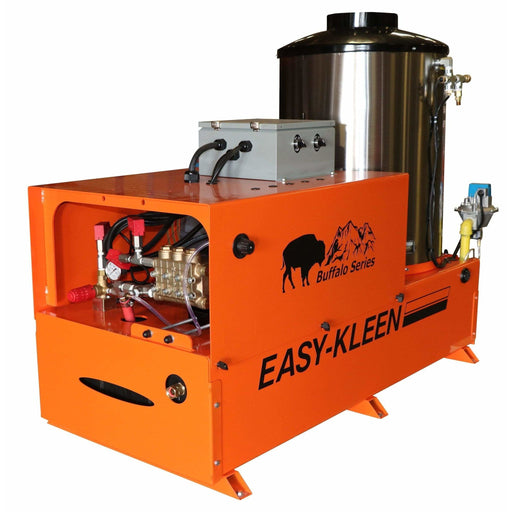 Easy-Kleen 5000 PSI (Natural Gas - Hot Water) Auto Stop Belt-Drive Stationary Pressure Washer (208V 3-Phase) - EZN5005-3-208-A