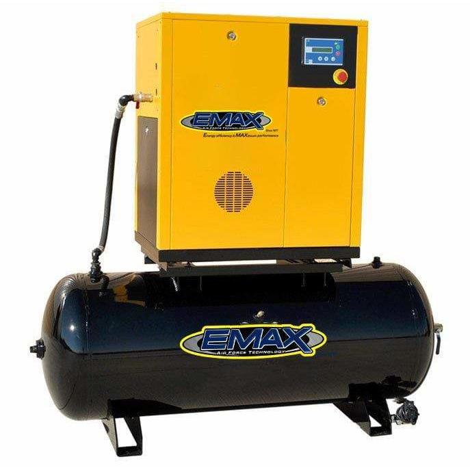 EMAX 7.5-HP 80-Gallon Rotary Screw Air Compressor (230V 1-Phase)
