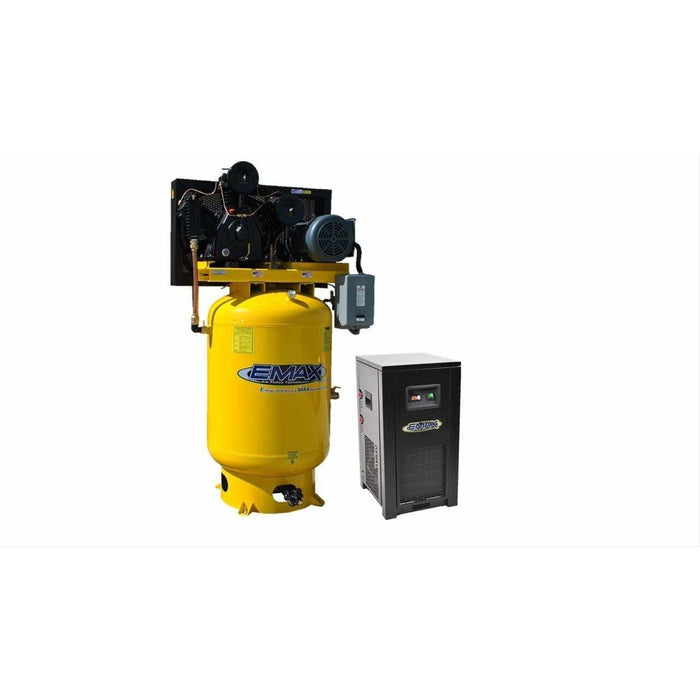 EMAX Industrial Plus 10-HP 120-Gallon Two-Stage Air Compressor w/ Dryer (208/230V 1-Phase) - EP10V120Y1PKG