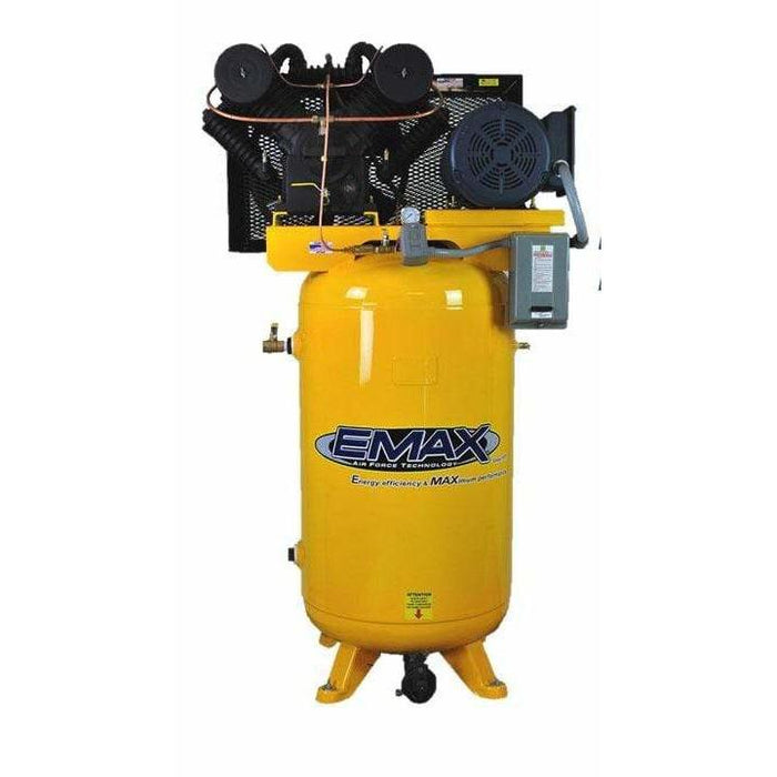 EMAX Industrial Plus 10-HP 80-Gallon Two-Stage Air Compressor (208V 3-Phase)
