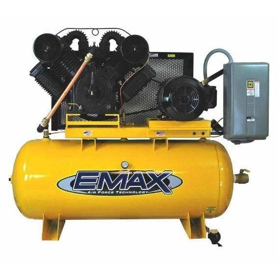 EMAX Industrial Plus 20-HP 120-Gallon Two-Stage Air Compressor w/ Dryer - EP20H120V3