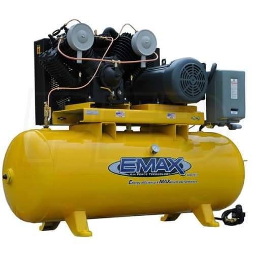 EMAX Industrial Plus 7.5-HP 80-Gallon Two-Stage Air Compressor (208V 3-Phase) - EP07H080V3