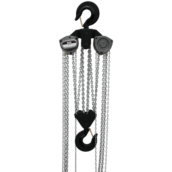 Jet L-100-1500WO-10, 15-Ton Hand Chain Hoist With 10' Lift & Overload Protection - 109110 109110