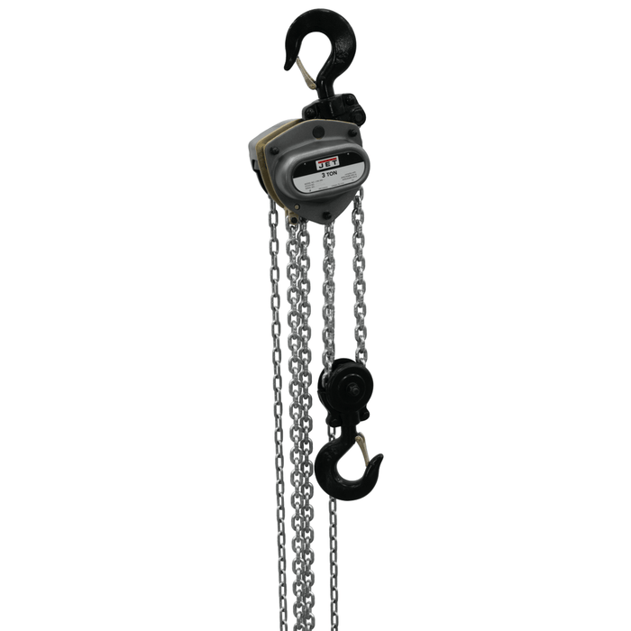 Jet L-100-300WO-15, 3-Ton Hand Chain Hoist With 15' Lift & Overload Protection  - 207115 207115