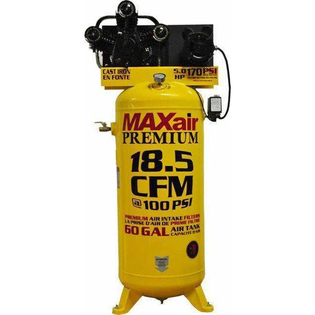 MaxAir 5HP Upright 18.5CFM 100psi Stationary Air Compressor - C5160V1-MAP