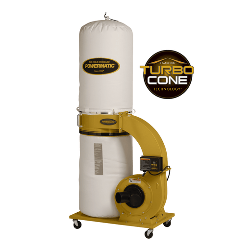 Powermatic PM1300TX-BK Dust Collector, 1.75HP 1PH 115/230V, 30-Micron Bag Filter Kit - 1791078K 1791078K