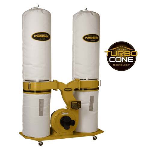 Powermatic PM1900TX-BK1 Dust Collector, 3HP 1PH 230V, 30-Micron Bag Filter Kit - 1792071K 1792071K