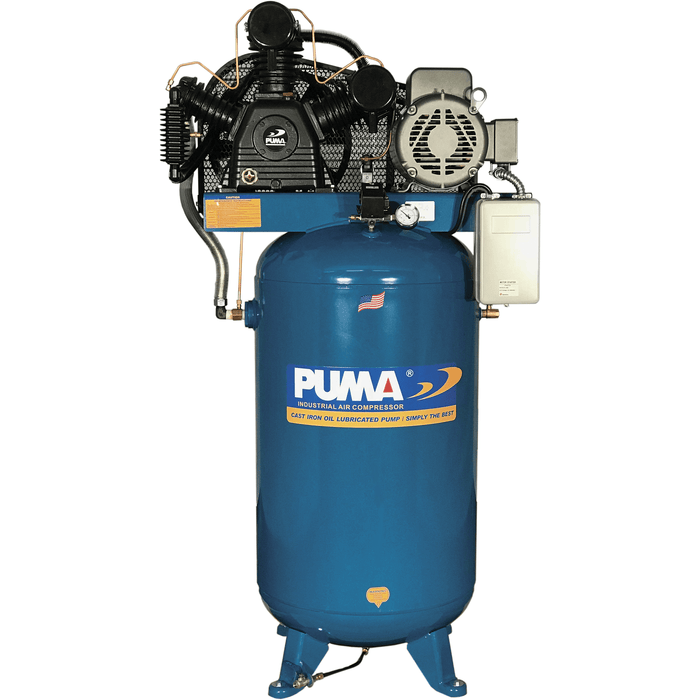 Puma 7.5-HP 80-Gallon Two-Stage Air Compressor (230V 1-Phase) - TUK-7580VM