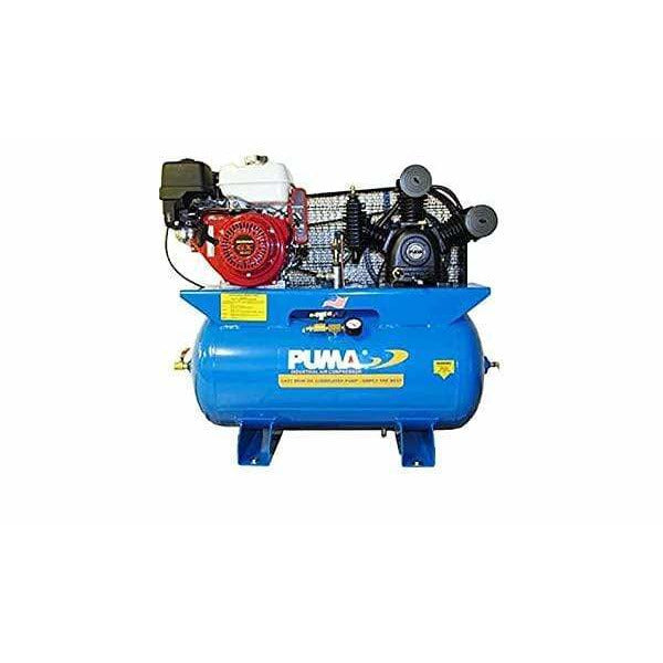 Puma 8-HP 30-Gallon Two-Stage Truck Mount Air Compressor w/ Electric Start Honda Engine - TE-8030HGE