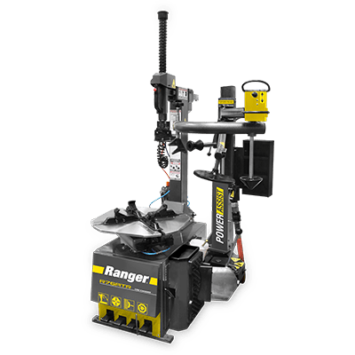 "Ranger R76ATR Tilt Back Tire Changer Right-Tower Single Assist 30"" Capacity Gray-Yellow - 5140140 5140140"