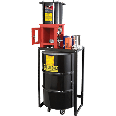 Ranger RP-20FC Pneumatic Oil-Filter Crusher, 10-Ton Capacity, INCLUDES STAND - 5150067