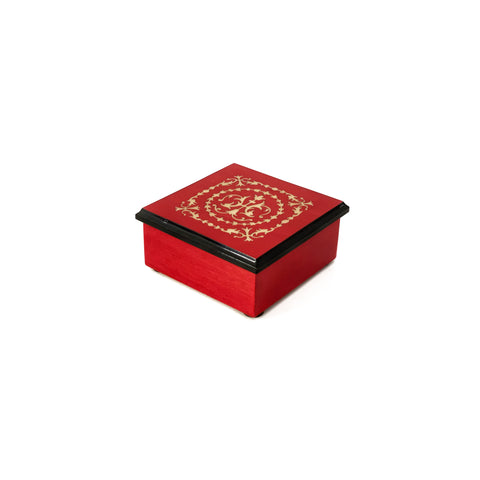 Arabesque design red box