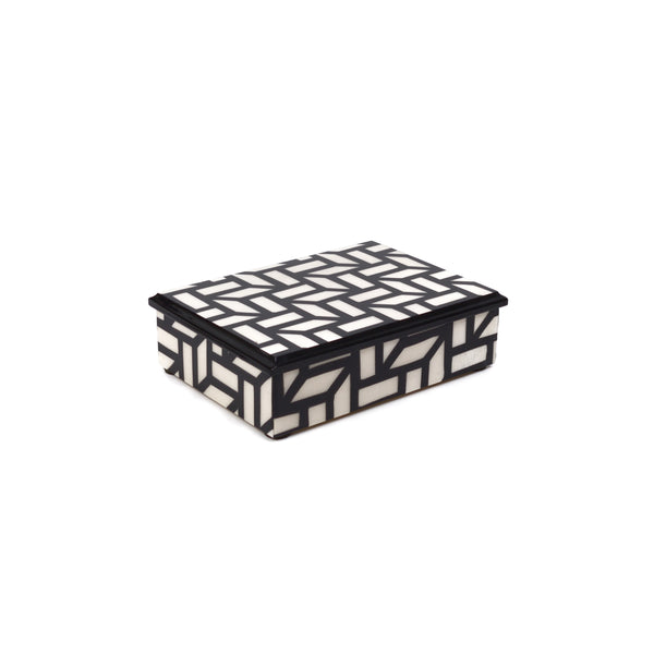 """Griglia"" Black/White Rectangle box"