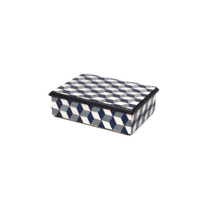Cubes Blu Rectangle Box