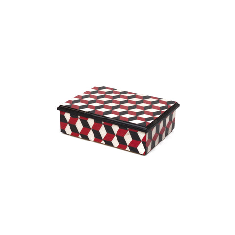 Cubes in Red Rectangle Box