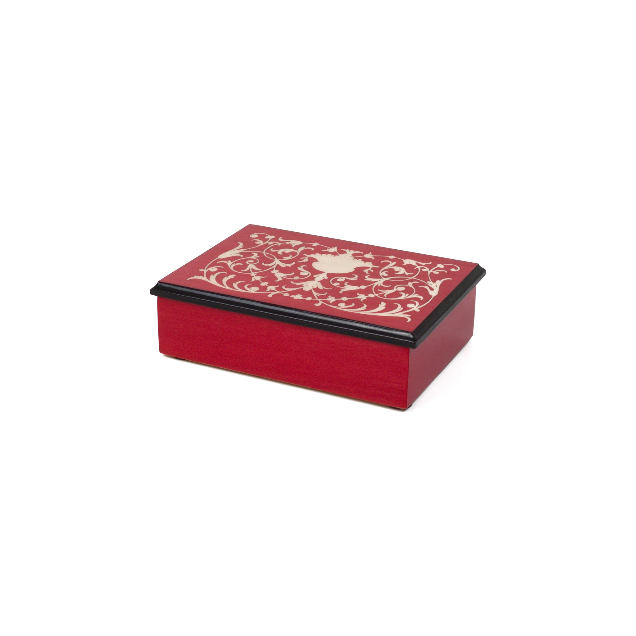 Ornamental red Rectangle Box