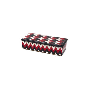 Chevron Red Pencil Box