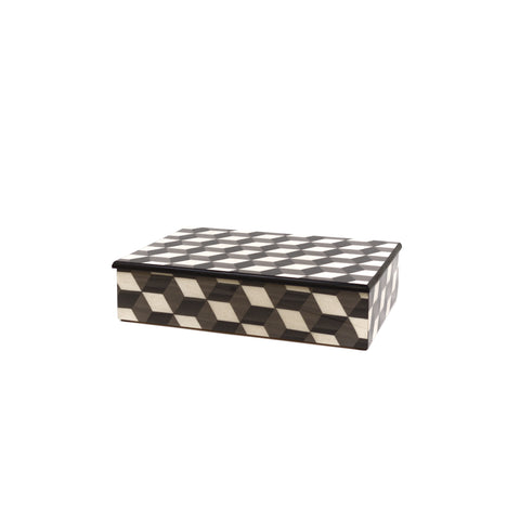 Cubes grey/white  Rectangle big box