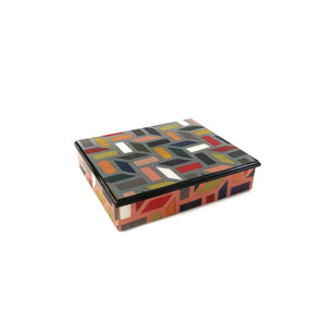"Multicolor ""Griglia"" Rectangle box"