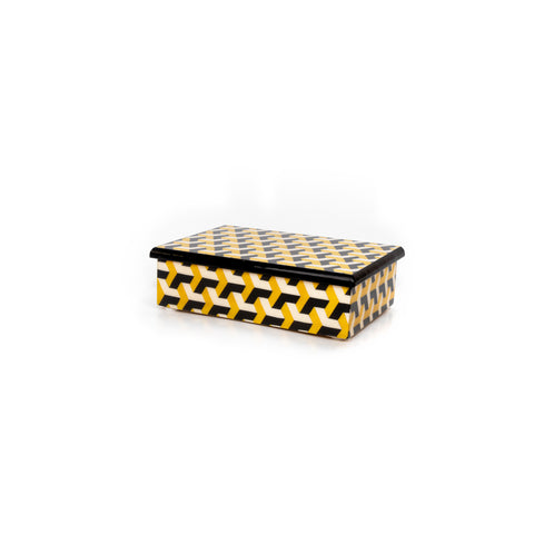 3d black and yellow Rectangle Box