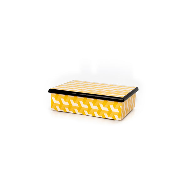 3d yellow Rectangle Box