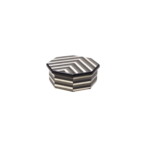 Stripes grey octagonal box