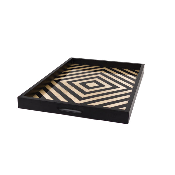 Sweet black/white tray