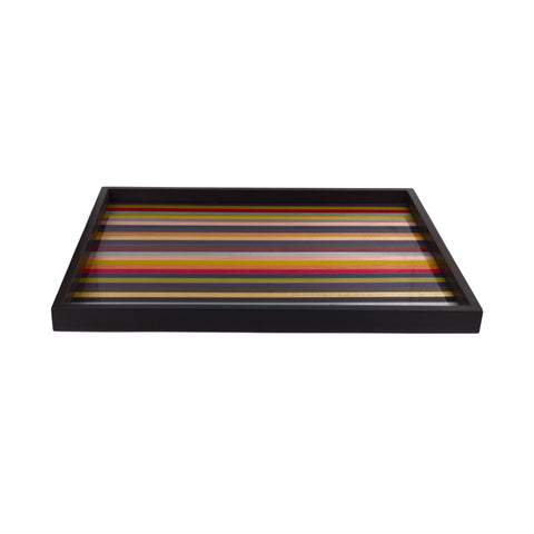 Large stripes m/colors tray