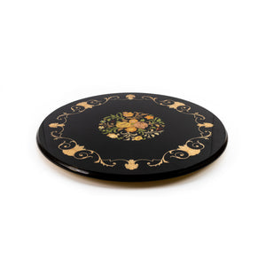 Flower Black lazy susan