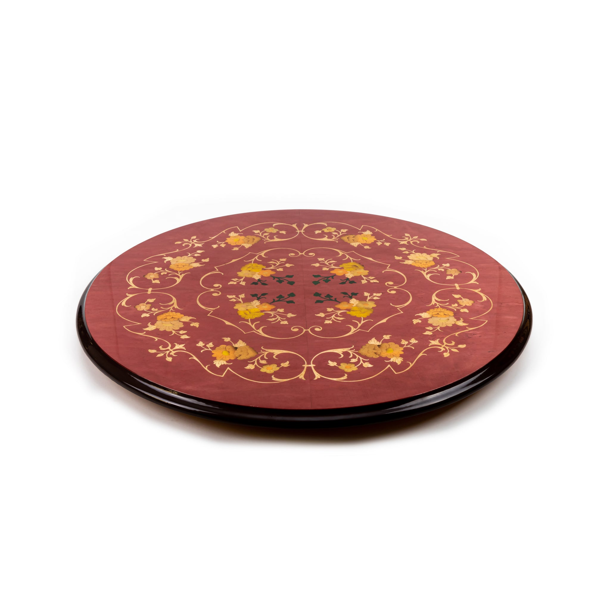Flower wine red lazy susan