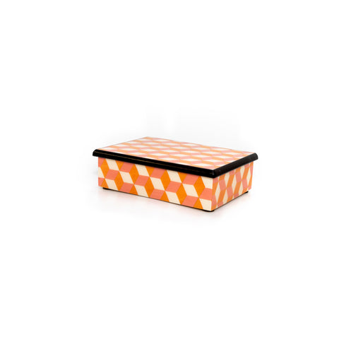Cubes Orange and pink Rectangle Box