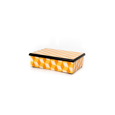 Cubes Orange and Yellow Rectangle Box