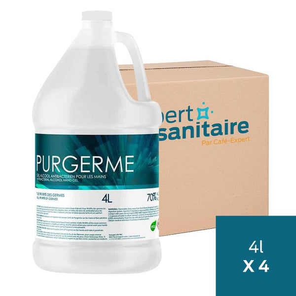 Gel à Main 70% Alcool Minimum 4 x 4 Litres - Purgerme