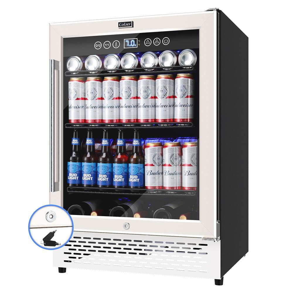 Colzer 24 Inch Beverage Refrigerator Cooler Mini Fridge