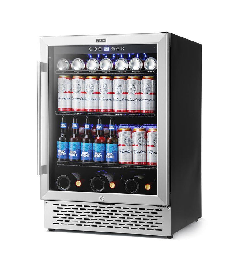 Colzer 24 Inch Beverage Refrigerator and Wine Cooler - Colzer