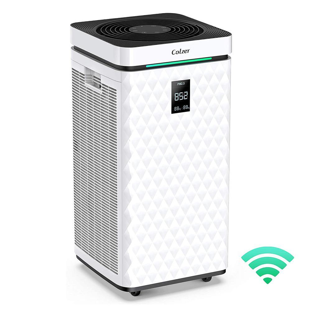 Air purifier with true HEPA filter for up to 1500 sq ft - Colzer