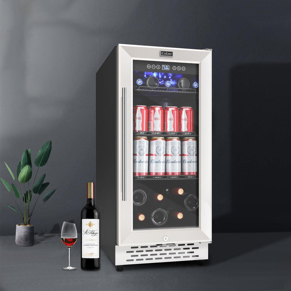 15 Inch Beverage Refrigerator and Wine Cooler - Colzer