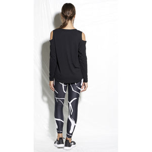Black and white leggings available at Studio 128.