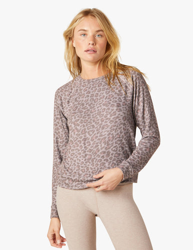 Beyond Yoga Leopard Print Sweatshirt at Studio 128.