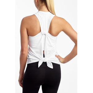 The best white workout tanks available at Studio 128.